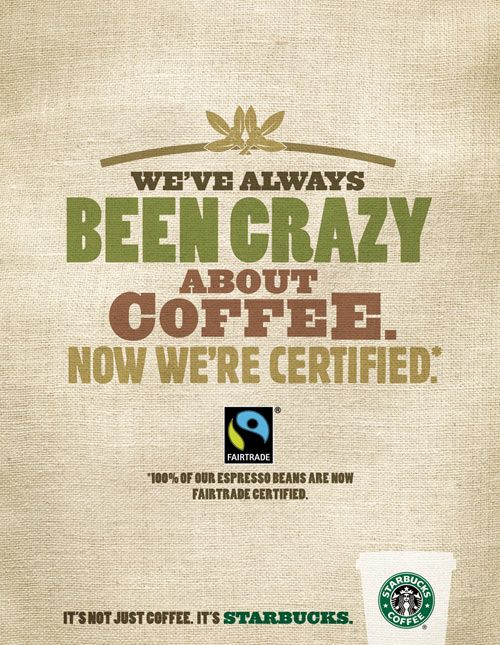 Those coffee beans in your Starbucks cup taste even better now they're officially Fairtrade.