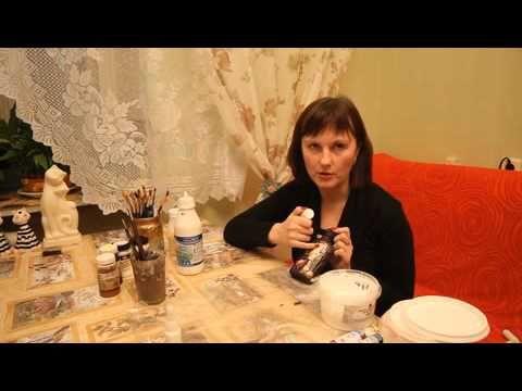 Декупаж. Имитация коры и корней деревьев. Юлия Николаева