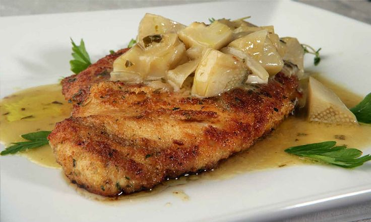 Nick Stellino - Chicken Milanese with Braised Artichokes