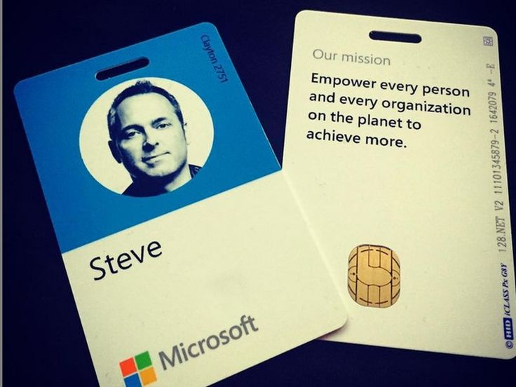 Even Microsoft's employee badges have switched from squares to circles