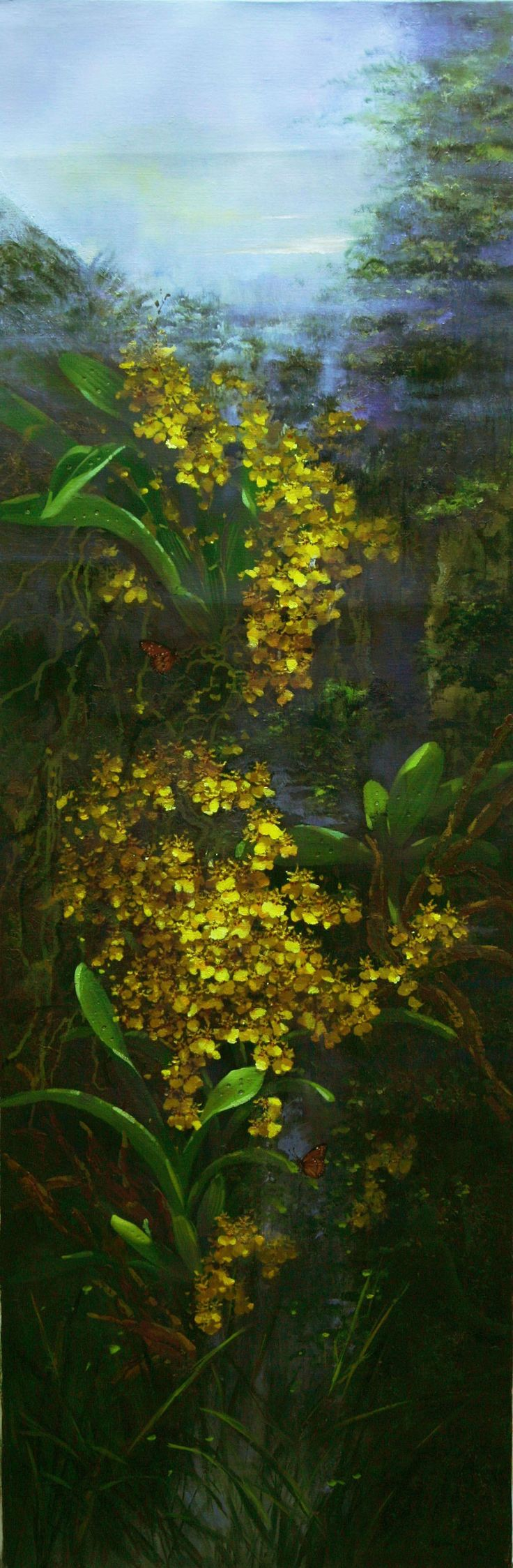 Golden Shower by Choo Ai Loon, 50 x 150cm, Oil on Canvas, 2014