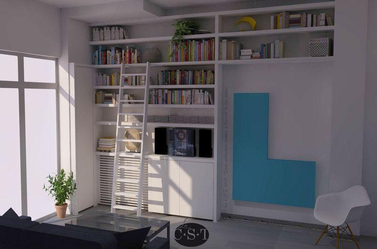 Conception de projet : La C.S.T Bibliothèque intégrée façon maçonnerie.