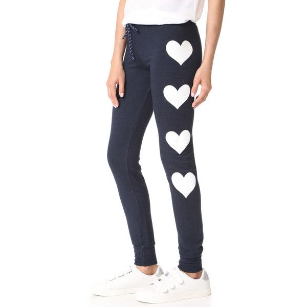 SUNDRY Hearts Skinny Sweatpants ($106) ❤ liked on Polyvore featuring activewear, activewear pants, slim fit sweat pants, sundry sweatpants, drawstring sweatpants, skinny sweat pants and slim sweat pants