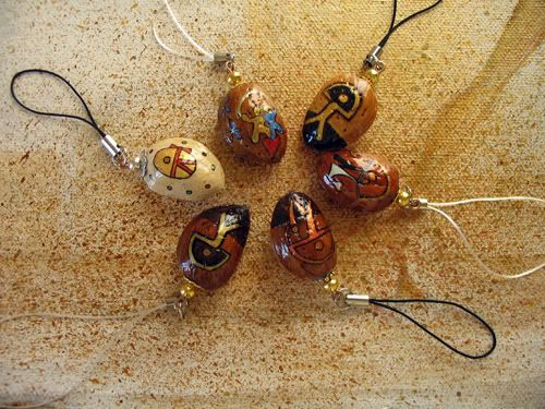 Hand-crafted phone dangles