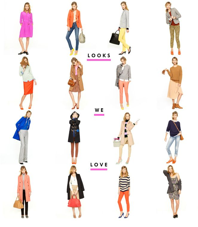 jcrew's fall looks. so much color!