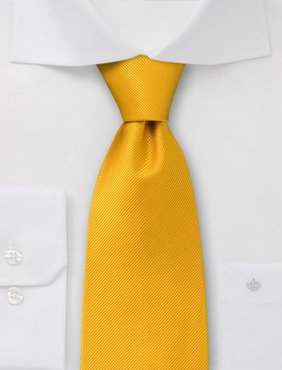 Saffron necktie for the groomsmen or the groom