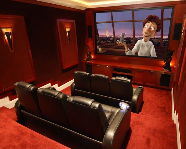 Professional Basement Home Theater Designs   Minimalist Decorating Idea