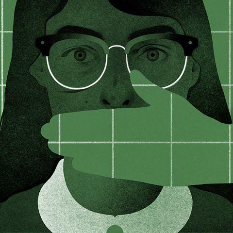 Was darf ein Lehrer noch sagen? Redaktionelle Illustration für Larisa Romanenko. Wh …