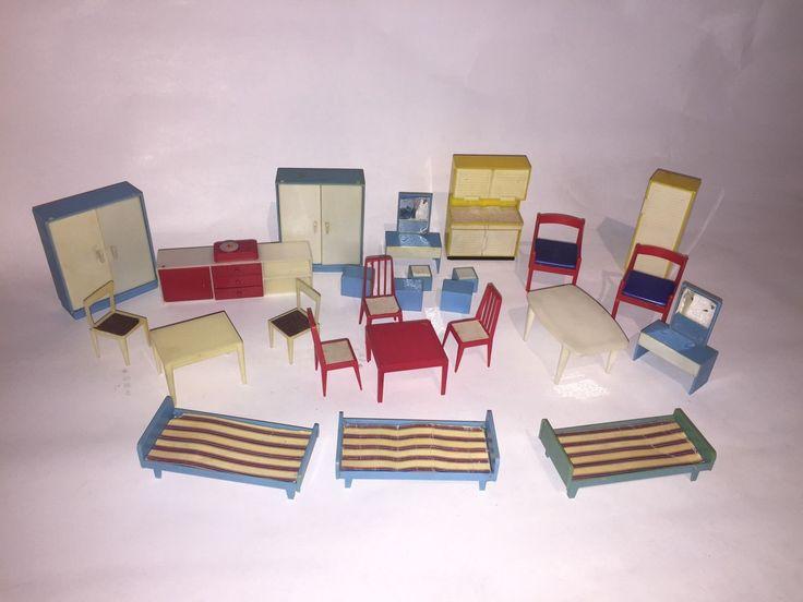 Perfect Lot Vintage Mobilier Maison Poupée Jean Meubles West Germany | EBay · Plastic  DollHouse FurnitureDoll ...
