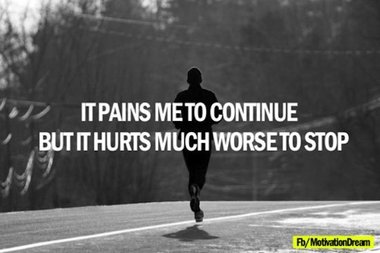 This is every runners truth!!!! Guilty of being so stubborn u injure yourself...