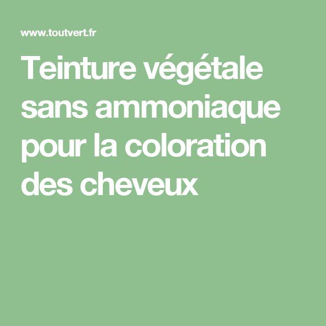 Teinture végétale sans ammoniaque pour la coloration des cheveux