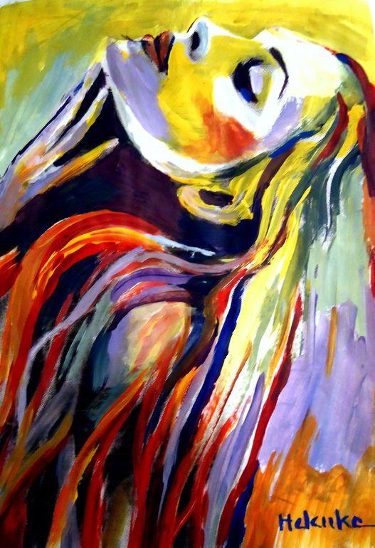 "Saatchi Art Artist: Helena Wierzbicki; Acrylic 2013 Painting """"Perfect Bliss"""""