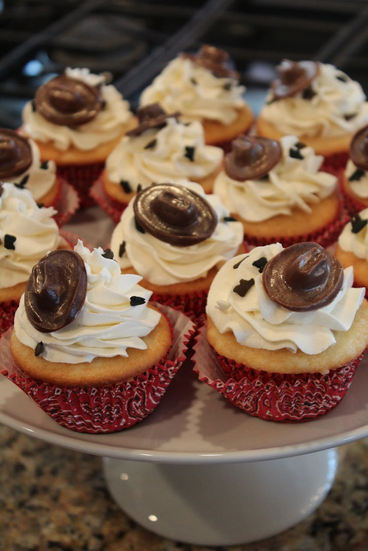 western themed cupcakes | Celebrating with Cowboy Cupcakes
