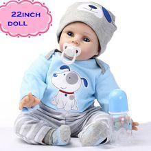 """O Mais Recente 22 """"55 cm Silicone Renascer Baby Dolls Melhor Presente 100% Seguro E Simulação Realista Bonecas Recém-nascidos Do Bebê Para Criança Brinquedos(China (Mainland))"""