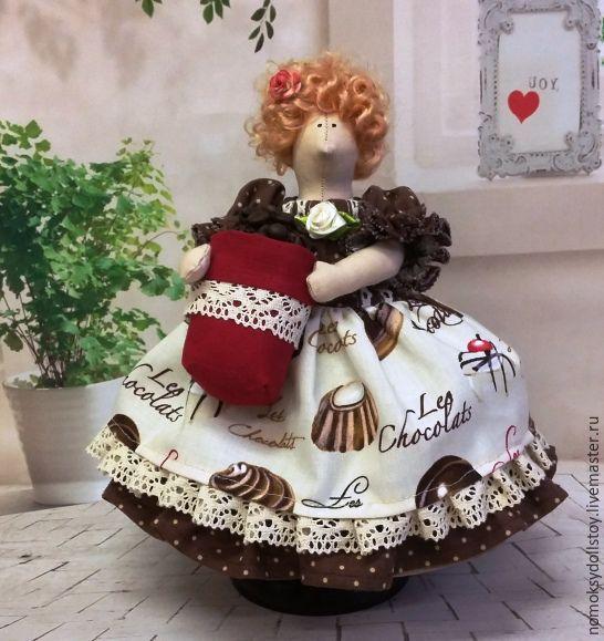 Купить Тильда Ангел - толстушка Кофеечка - ангел, тильда, кукла ручной работы, кукла в подарок