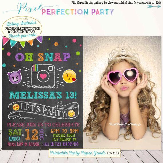 Emoji Birthday Invitation Instagram by PixelPerfectionParty