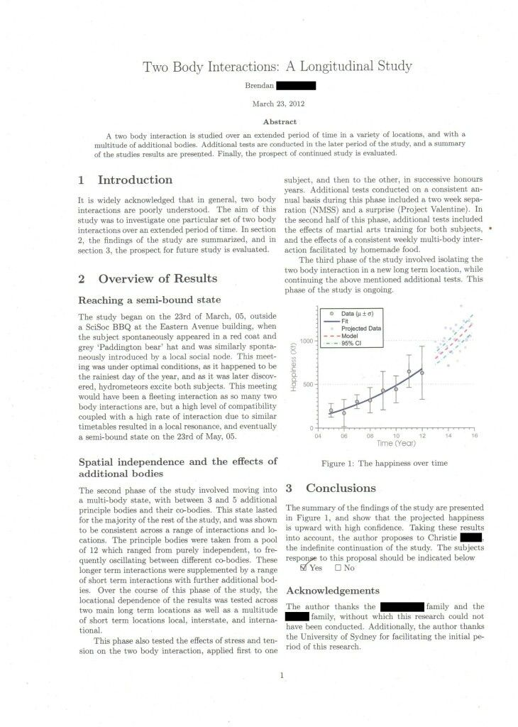 Science thesis introduction