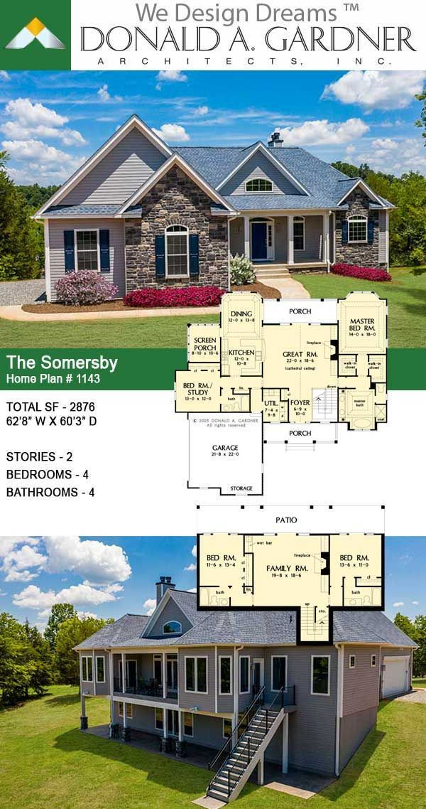 The Somersby House Plan 1143 D Craftsman House Plans Craftsman Style House Plans House Plans