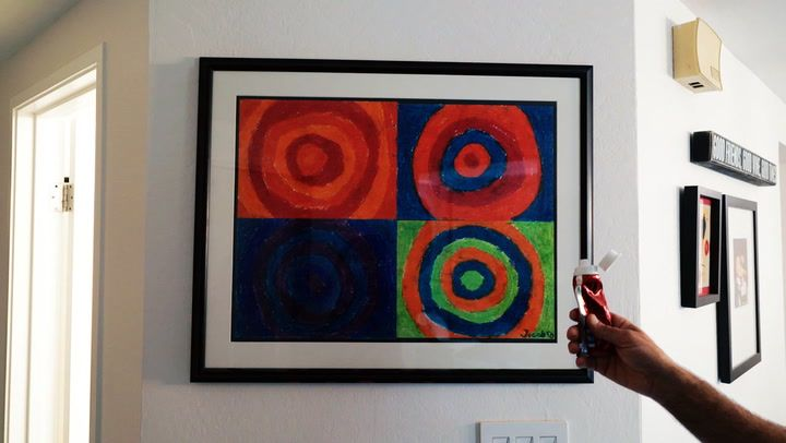 Always struggling to hang pictures and paintings straight? The answer is in your bathroom!