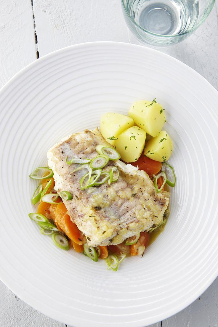 Recepten - Gebraiseerde zeeduivel met jonge worteltjes