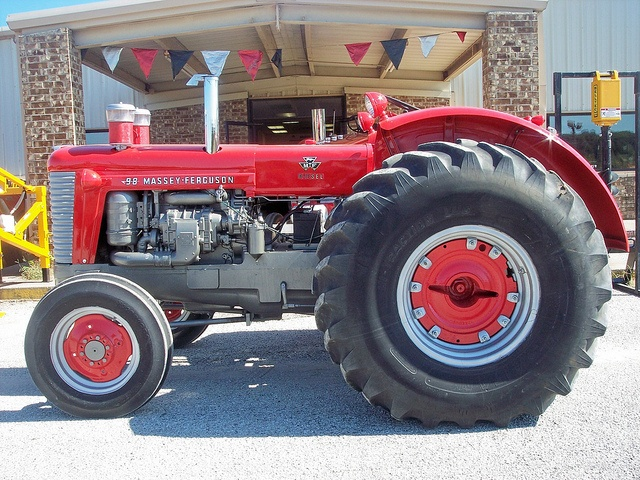 1958 Massey Ferguson 98. The 98 was actually an Oliver Super 99 painted like a Massey Ferguson. This was done due to a fire at Massey's factory that destroyed everything. They also repainted a Minneapolis Moline and badged it as a MF 97