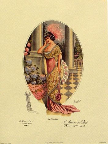 Martial and Armand Creation depicting the perfectly groomed directoire styled woman of 1912.