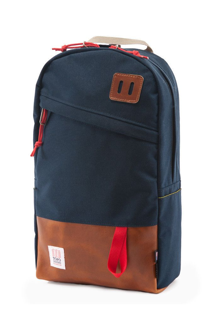 Topo Designs Daypack Navy Leather