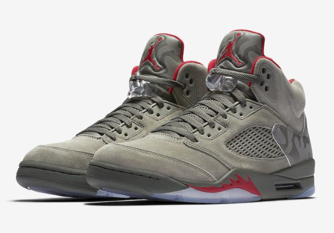 The Air Jordan 5 Camo Sneakers - Learn More about this awesome Sneakers on The Notice Centre