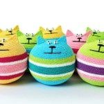 round cats - love these lil dudes to crochet!.