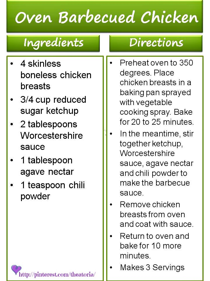 Oven Barbecued Chicken ♥ 17 Day Diet Recipe