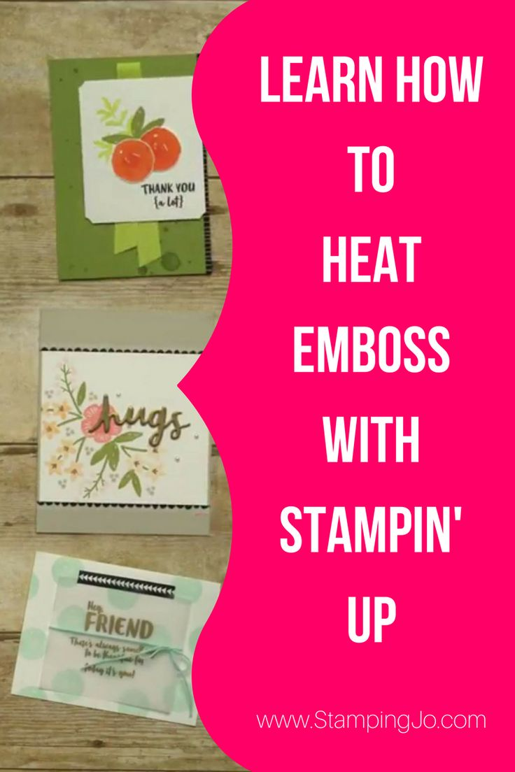 Learn how to add heat embossing to your hand stamped cards!