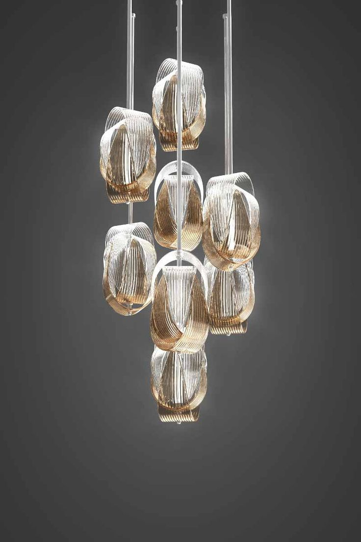Babel – a new lighting pendant by @jirikrisica. It is made of hand-blown parachute components requiring extraordinary skill and the utmost precision of the glass-maker. The Babel light fixture by is attractive as a small or large cluster or a couple of solitary pendants.
