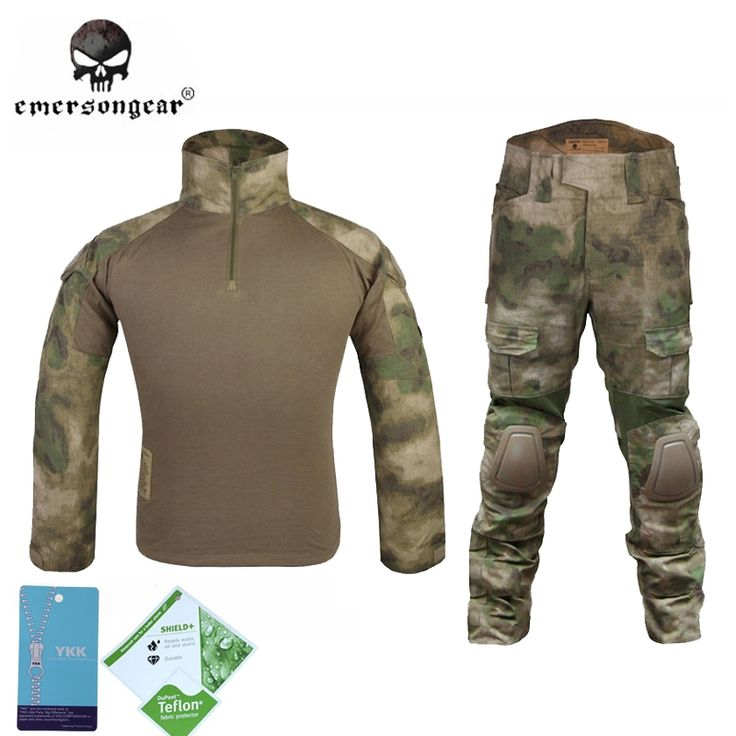 (112.19$)  Know more - http://ai25g.worlditems.win/all/product.php?id=32803563795 - Emersongear BDU Gen2 Bdu Military Uniform Combat Shirt & Pants & Pads  Atacs Fg Airsoft tactical Uniform Ghillie Suit a-tacs