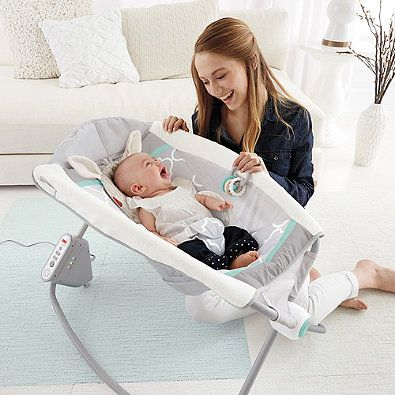 As an incline sleeper and playtime seat all-in-one, the Deluxe Auto Rock 'n Play Sleeper by Fisher-Price surrounds your little one with a fun clacker toy, music, and gentle vibrations. The extra-deep and cozy seat allows your baby to sleep all night long.