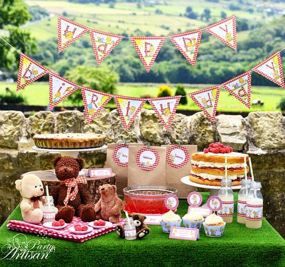 Teddy Bear's Picnic complete party set! on Etsy, $34.62 AUD