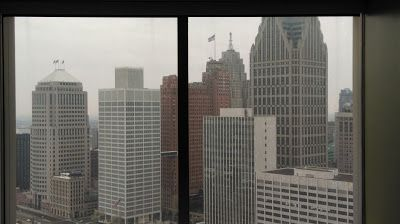 Downtown Detroit from Lifelong Michigander: Detroit's Renaissance Center From the Inside