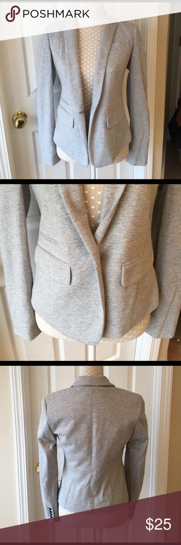 LOFT Gray Cotton Blazer Like New. Size 2. Heather Gray Cotton Blazer LOFT Jackets & Coats Blazers