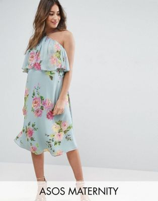 ASOS Maternity Dress in Crinkle Floral