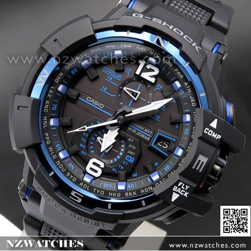 Casio G-Shock Gravity Defier Solar Wave Multiband 6 Watch GW-A1100-2A, GWA1100