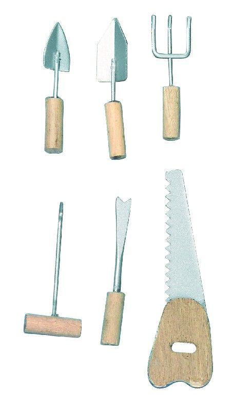 Fém/Fa kéziszerszámok, 4-6,5 cm, csom. 6 db, 6-féle | Rayher