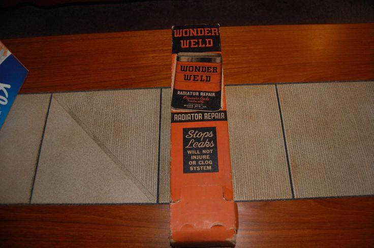 Vintage Wonder Weld Radiator Repair Display 12 Pack
