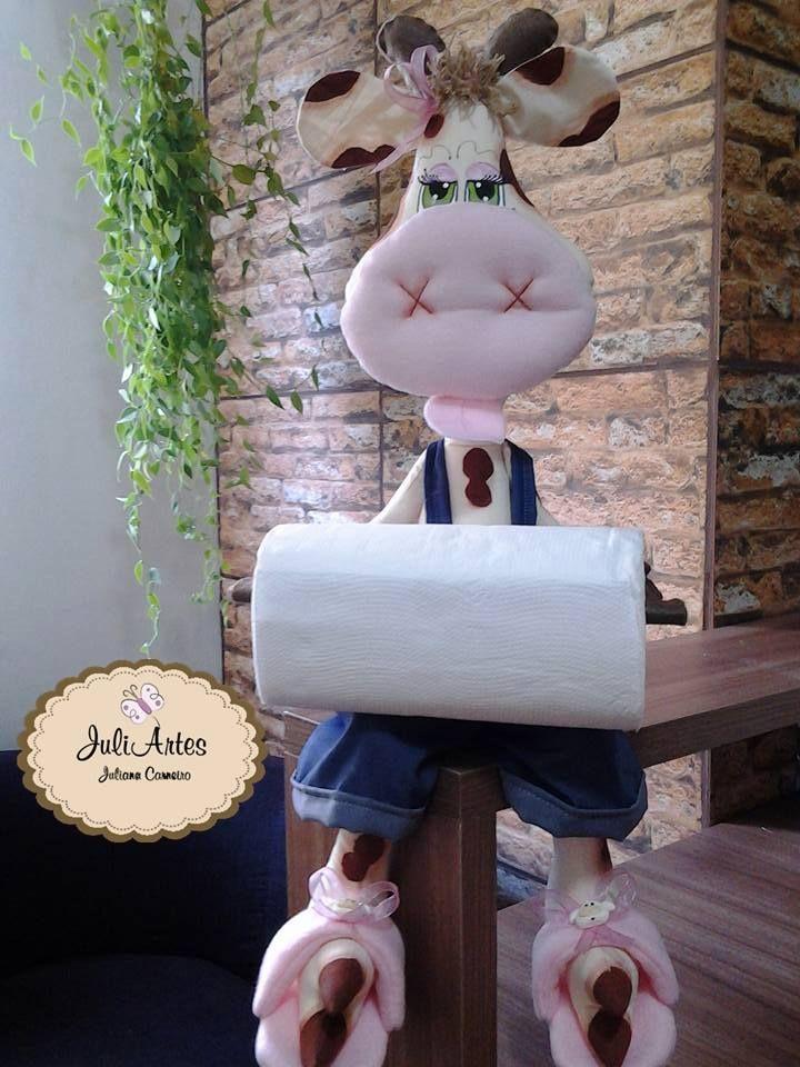 Eu Amo Artesanato: Porta toalha de papel com molde