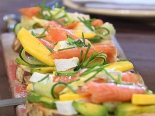 ... salmon with mango and brie recipes dishmaps salmon with mango and brie