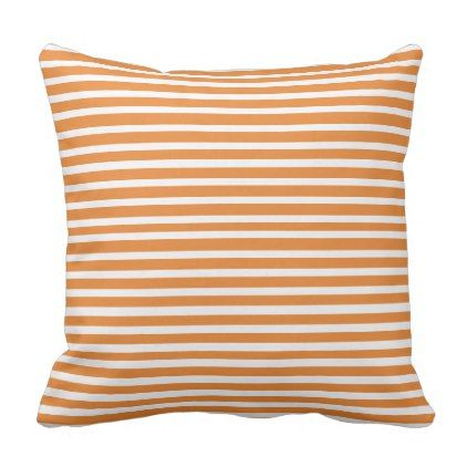 Pin Striped Orange and White Pillow – Pinstripe