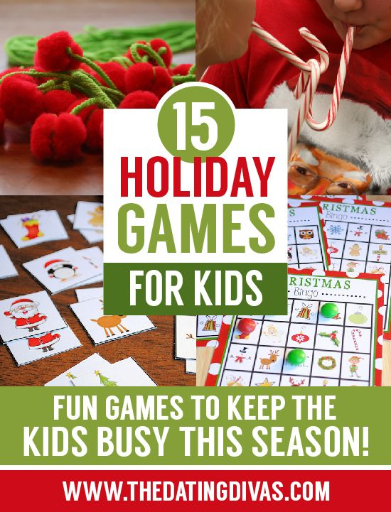 My kids are going to love these holiday games for our Christmas party!