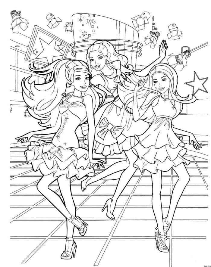 Barbie Birthday Party Coloring Pages Barbie Coloring Barbie Coloring Pages Mermaid Coloring Pages
