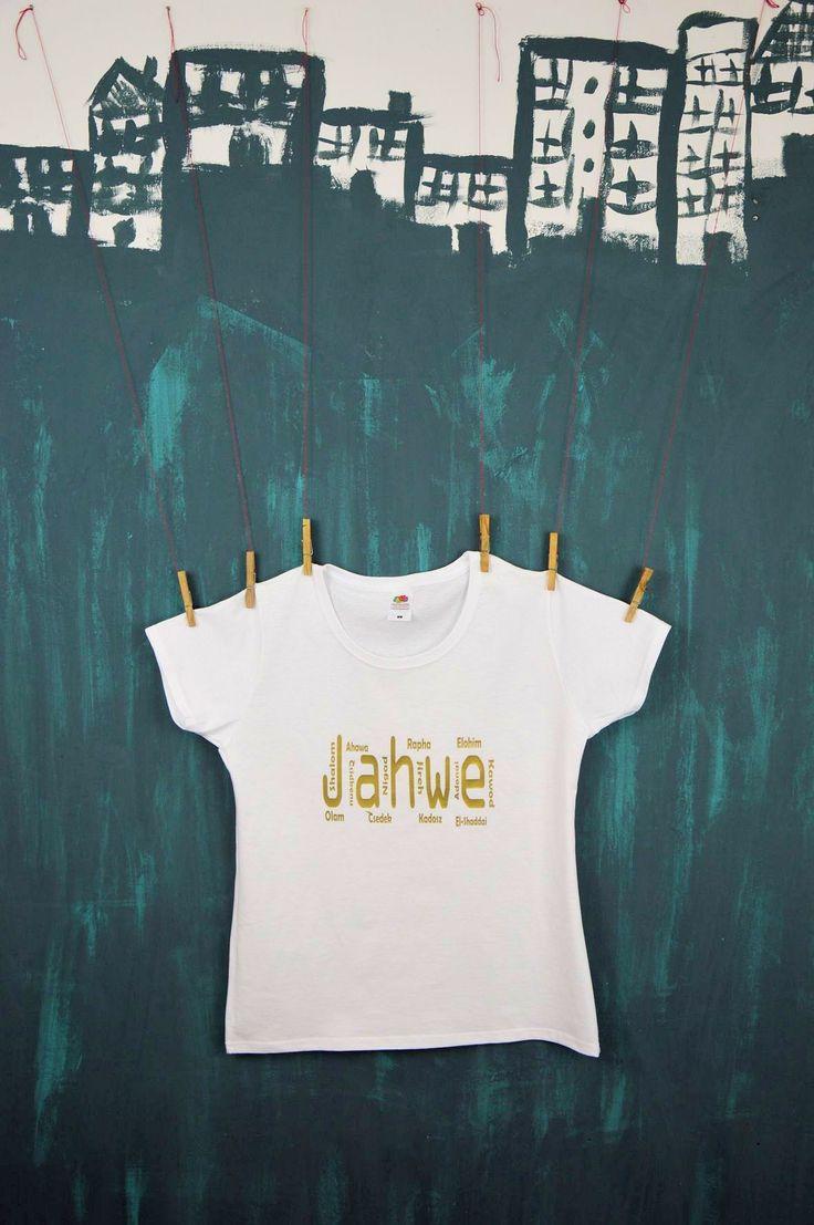 Koszulka Damska JAHWE (biało-złota)