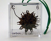 Carbon - Periodic Table of Elements Cube Ornament. Have I said how much I love the periodic table?!! Clever idea.