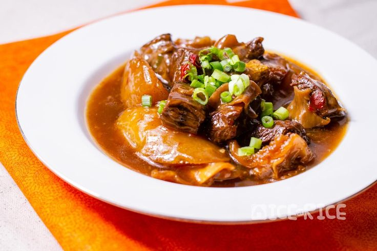 Cantonese style beef brisket with daikon radish cooked with spices in a pressure cooker. This recipe is for making either a stew or soup.