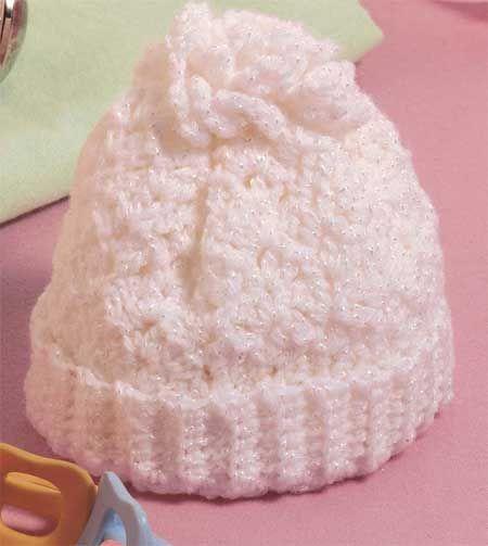 Preemie Baby's First Hat free crochet pattern - 52sc
